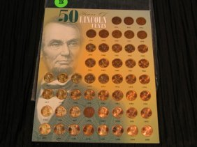 18: 50 years of Lincoln Pennies - 1951 thru 2000 - misc