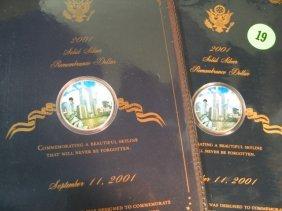 19: 2 - 2001 Silver Rememberance Dollars - September 11