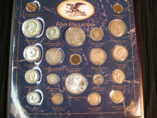 21: 20th century coin collection - framed