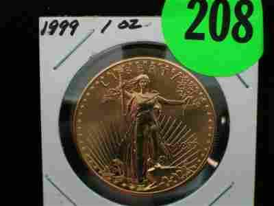 208: 1999 UNC One Ounce 50 Dollar (Fifty Dollar) Libert