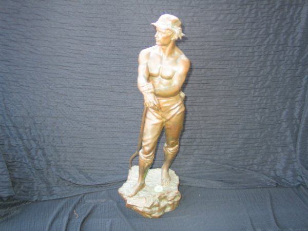 "311: CH. Levy Bronze  23"" tall Faneur Salon Des Beaux -"