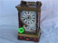 338: Porcelain Carriage Clock - has been running - show