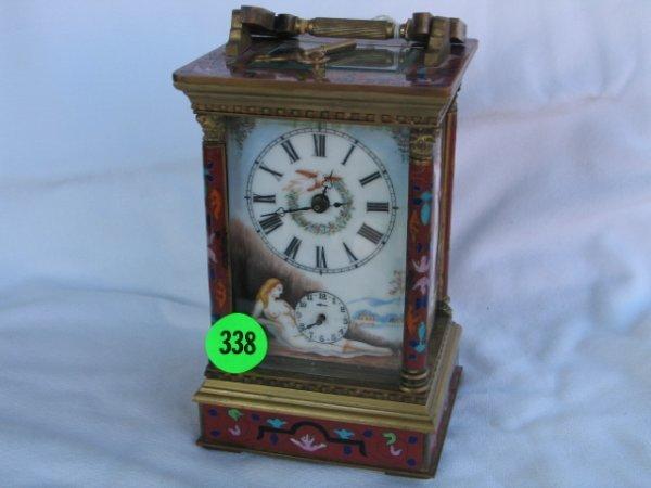 338: Porcelain Carriage Clock - has been running - show