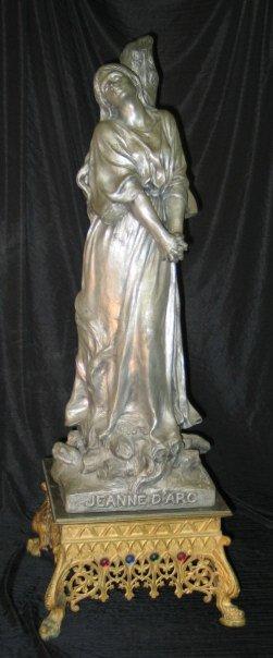 350: Jeanne D Arc B. Desvergues 1900 - Metal (?) Statue