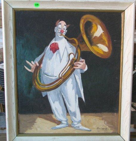 220: Mollarde'  oil on canvas approx 20 x 24  Clown wit