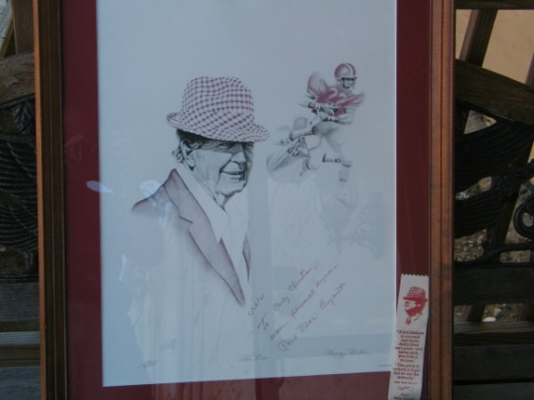 221: Paul Bear Bryant dated 6/28/81 autographed (not ce