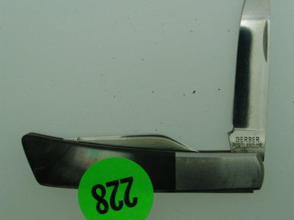 228: Gerber Portland Oregon Knife - Silver Knight by Sa