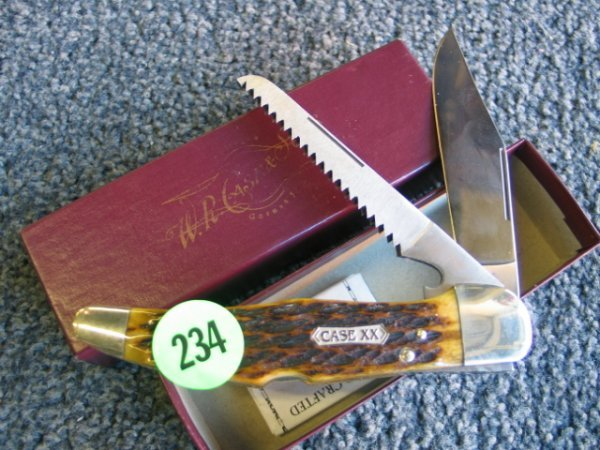 234: Case knife - Solingen Germany XX - with box and pa