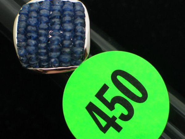 450: Ladies 14kt white gold ring size 7 1/2 - w/ .5 ctt