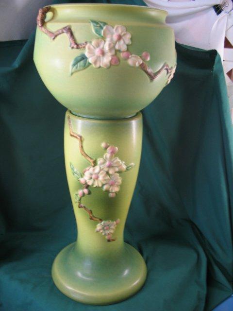 219: roseville apple blossomjardinaiere w/ pedestal #30