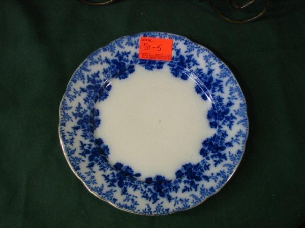 "515: 6 9"" Flow Blue plates marked Ridgways Royal Semi P"