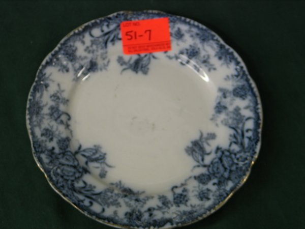 "517: 5 7.5"" Flow Blue Plates, English Celia"