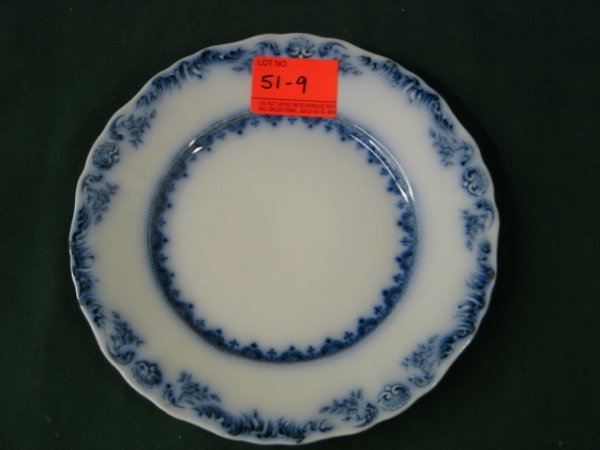 519: 5 flow blue plates, jand c meakin, hanley, england
