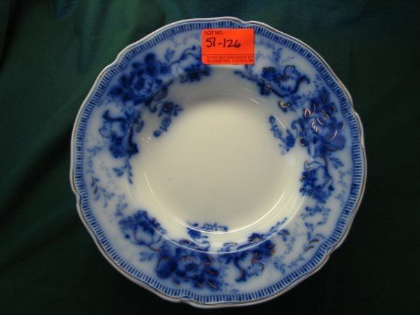 51126: 12 flow blue bowls johnson bros england richmond