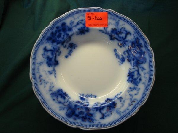 51126: 12 flow blue bowls johnson bros england richmond