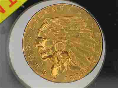 2211: 1909 $2.5 indian gold coin