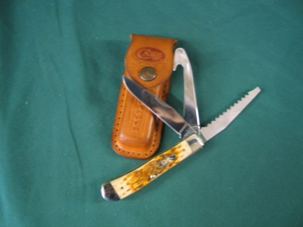 192: case stag handle double blade with case