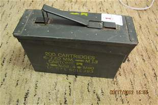 military ammo box with shotgun shells 12g