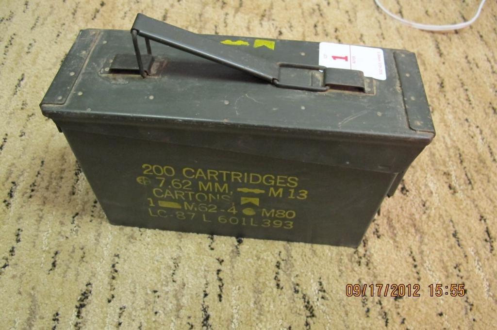 1: military ammo box with shotgun shells 12g