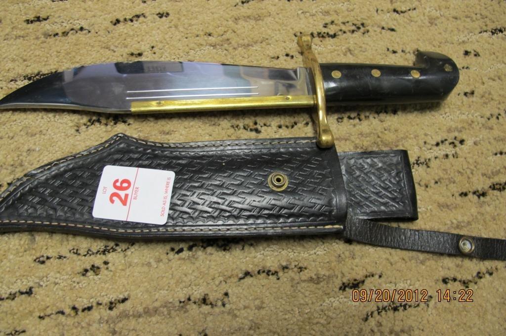 26: Case xx 1836 case Bowie Knife. 9 1/2 blade