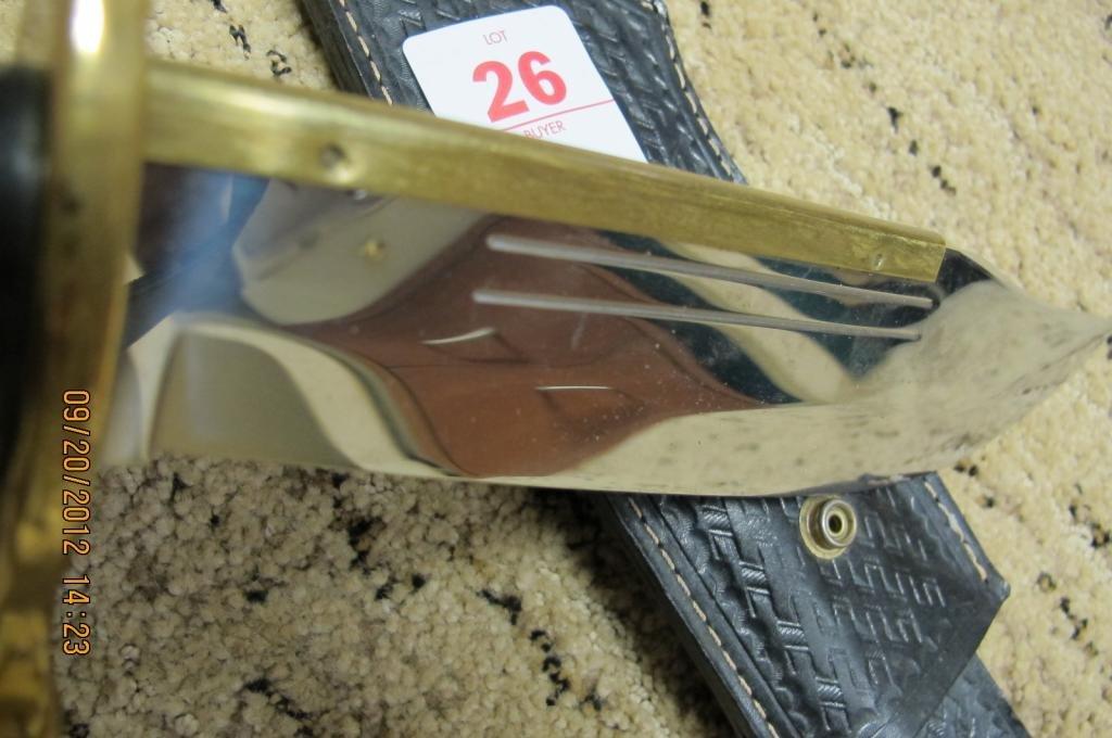 26: Case xx 1836 case Bowie Knife. 9 1/2 blade - 4