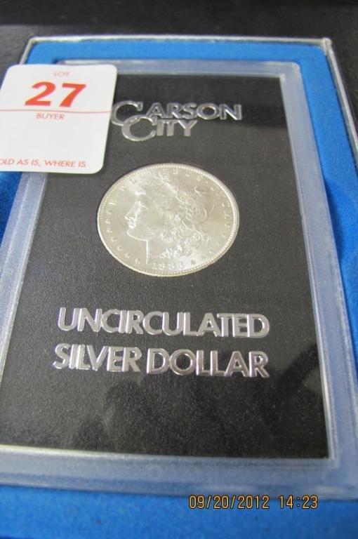 27: 1883 GSA Carson City Morgan Silver dollar