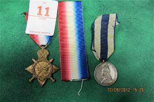LOT OF 2 MEDALS BRITISH 1914 - 1915 STAR NETAL