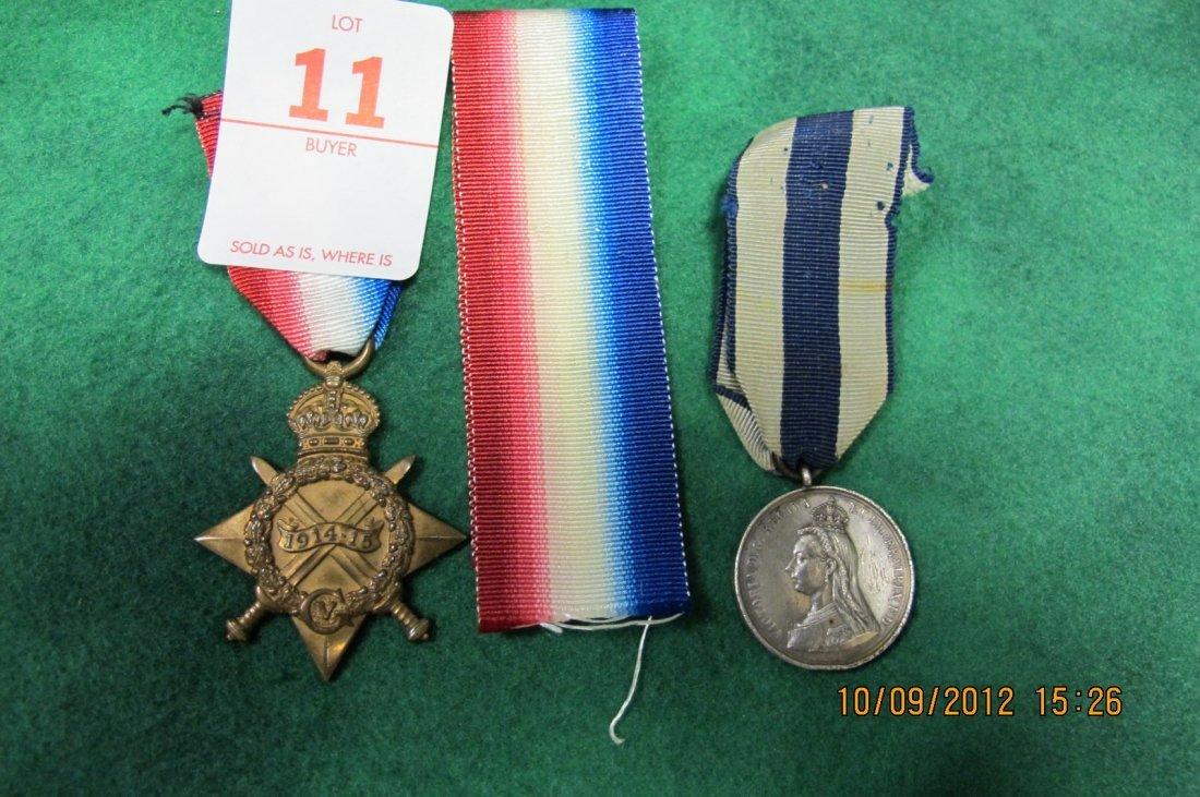 11: LOT OF 2 MEDALS BRITISH 1914 - 1915 STAR  NETAL