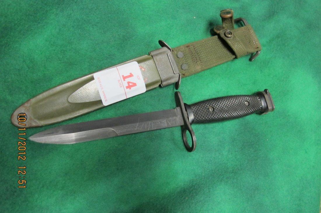 14: BAUER AR15 M16 BAYONET 1969