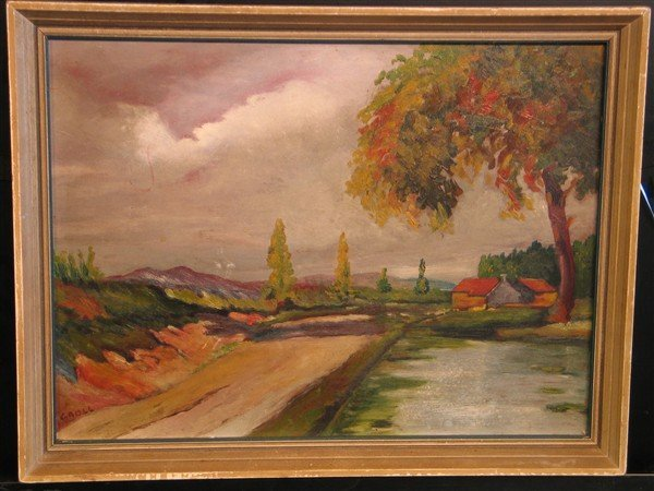 1: Albert L. Groll - Country Road Landscape