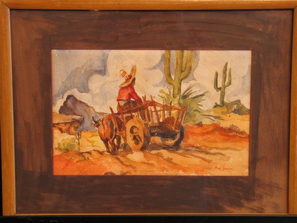 12: Frank James - Mexican Boy In Oxen-Drawn Cart