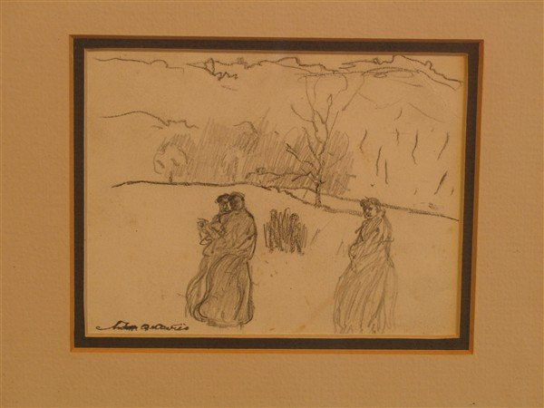 18: Arthur B. Davies - Three in Monastic Garb Walking