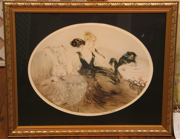 19: Louis Icart - Cat and the Goldfish