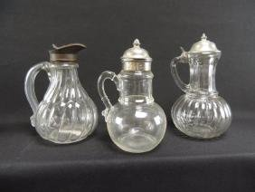 Group of 3 Antique EAPG Syrups