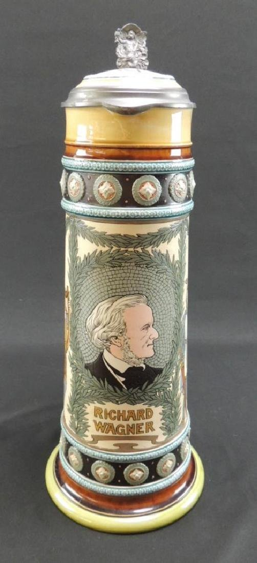 Mettlach Etched Richard Wagner musician/composer 3L