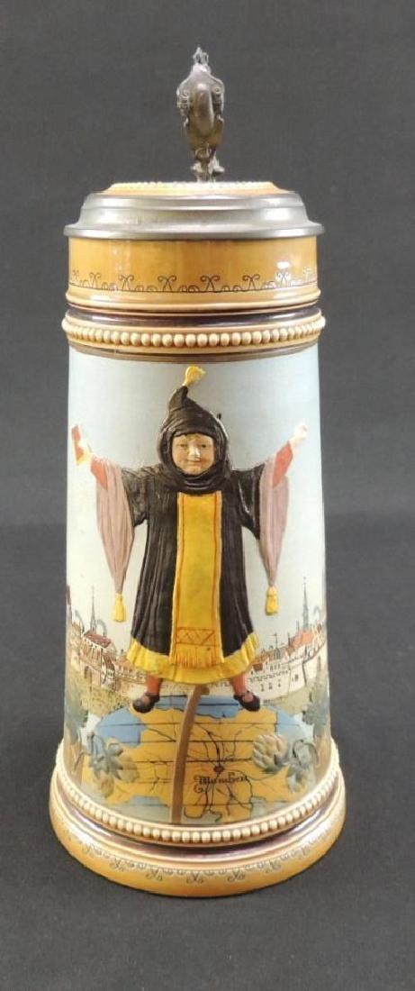 Mettlach Munich child standing on globe of the world 1