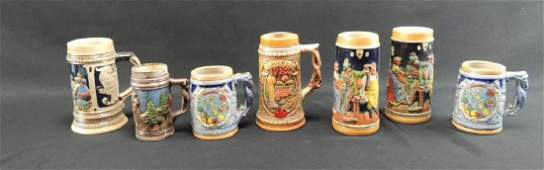 Group of 7 Vintage German Made Steins
