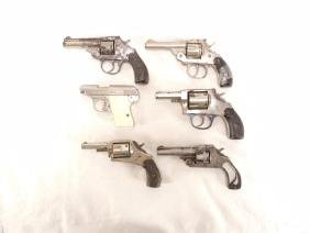 Group of 6 .25-.38Cal Revolvers and Pistols