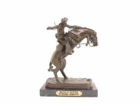 """""""Bronco Buster"""" by Frederic Remington Bronze Statue"""