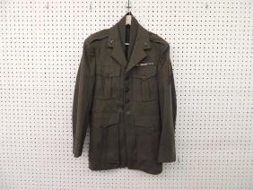 U.S. Marine Corp Jacket with Belt, Pins, Bars, and