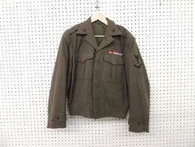 U.S. Marine Corp Jacket with Pins, Bars, and Medic