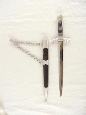 WW2 German Air Force Pilot's Dagger with Scabbard