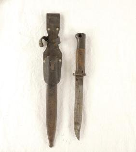WW2 German Infantry Bayonet with Frog and Scabbard