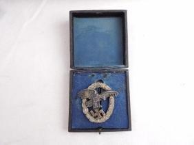WW2 German Luftwaffe Observers Badge with Original Box