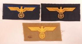 Group of 3 WW2 German Coastal, Navy, and KM EM Breast