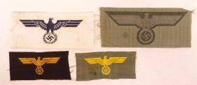 Group of 4 WW2 German Navy, Coastal, and Army Eagle