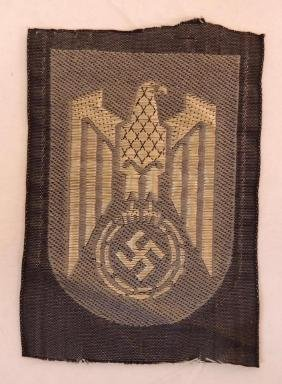WW2 German Naval Officer's Breast Eagle Patch