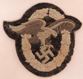WW2 German Luftwaffe Cloth Observer Badge