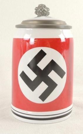German SS Swastika Stein