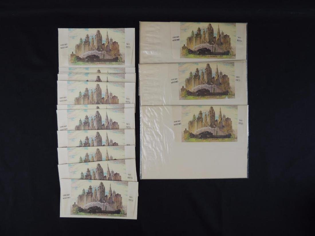 1933-34 Chicago World's Fair Souvenir Napkins and